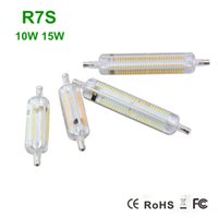 halogen bulb - 1x R7S LED Bulb W W W SMD4014 V Dimmable mm mm IP65 Glass LED Lamp Bulb Degree Replace Halogen Lamp Floodlight