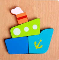 Wholesale Preschool puzzle animal cartoon small three dimensional d puzzle wooden toys children learning and educational toys