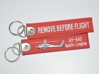 apache longbow - AH D Apache Longbow Remove Before Flight flight before removing embroidery Keychain