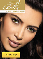 Wholesale Brand New Bella Diamonds color contact lenses with storage case cosmetic color contact lens