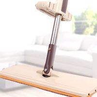Wholesale 2016 New Arrival Flat Mop Microfiber Rotatable Mops Floor Cleaning Wipe Scrub Mop Household Dust Cleaner JG0047