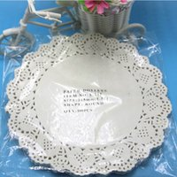 Wholesale Creative Craft quot diameter cm Round White Paper Lace Doilies Cake Placemat Party Wedding Gift Decoration pack