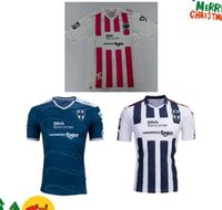 Wholesale DHL Mixed buy2016 Mexico Club Monterrey pink soccer jersey White Away Blue Thai Quality Tigers W GARGANO Maillot De Foot footbal