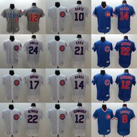 Wholesale Mens Elite Chicago Cubs Jason Heyward Ernie Banks Sammy Sosa Dexter Fowler Ron Santo Flexbase Baseball Stitched Jerseys