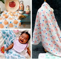 apple towels - 2016 New INS Bobo Baby Towel Apron Soft Cotton Fruit Bananda Apple Hands Free Bath Safety Comfort Newborn Gift cm