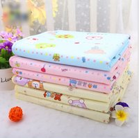 Wholesale DHL EMS S M L XL Pink Yellow Blue Cotton Waterproof Baby Infant Bedding Changing Pads Portable Urine Mat Nappy Cover Pad K7068