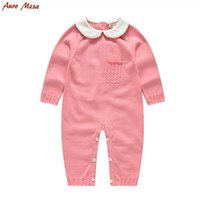 baby girl onesie lot - Fashion Autumn Baby Clothing Long Sleeve Knitting Romper Cotton Newborn Girl Onesie Clothes