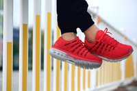 Wholesale 2016 new brand maxes run running shoes mens womens sports shoes sneakers red blue low waiking breathable runner shoes size
