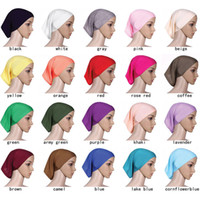 arabian robes - Muslim Islamic Arabian hijab underscarf veil robe abaya inner caps Cutton Stretch Elastic Adjustable