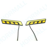 Cheap New COB LED DRL Daytime Running Lights White & Turning Signal Lights Yellow Amber for car trucks