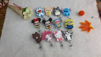 acrylic keychains - 2016 New Cute Cartoon Silicone Retractable Badge Reel keychain for Bus Credit Card Holder