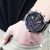 beige dial - Men s Casual Military Quartz Wristwatch Leather Strap Sub Dial Luxury DZ Watches Stainless steel watch sports calendar relojes
