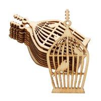 Wholesale Lovely New Design DIY Crafts Handicraft Bird Cage Die Cutting Wood Angle DIY scrapbook Wood Crafts Accessories mm mm