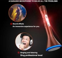 best light computer - Best Gift Led light Wireless KTV Microphone Bluetooth Handheld Portable Sing For SmartPhones iphone Bluetooth KTV Micropohone K1