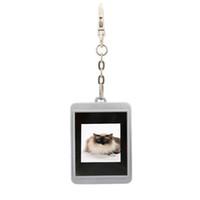 al por mayor álbumes lcd-LCD de 1.5 pulgadas Mini marco de foto digital de fotos digital con llavero Álbum Electrónico