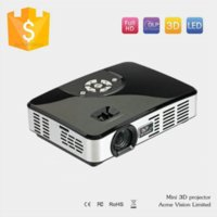 Wholesale On Sale High Quality Real Active Shutter D P Led Home Theater Cinema Projector Perfect Handheld Office Business Projector