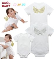 Wholesale New kids jumpers summer Baby Romper baby girl princess dress climbing clothes leotard angel wings overalls infant rompers J21