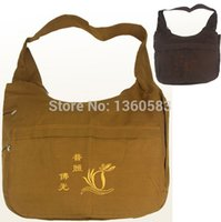 Wholesale high quality buddhism monk bags Buddhist packages meditation Lay Buddha Lohan canvas one shoulder bag Zen Buddhist masters bags