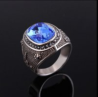 antique sapphire rings - High Quality Antique Style Vintage Ring White Gold Plated Black Sapphire Rings For Women And Men