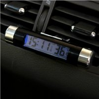 automotive outlet - mini the outlet automotive electronic thermometer clock LED digital display thermometer with a backlight car styling car clock