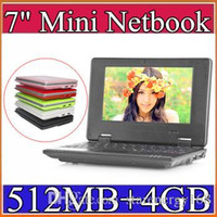 Wholesale 7 inch Mini Netbook VIA MB RAM GB ROM Android Windows CE7 Notebook WiFi HDMI Webcam Laptop A BJ
