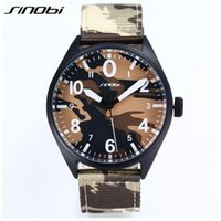Wholesale SINOBI Mens Sports Military Wrist Watches Camouflage Nylon Watchband Top Luxury Brand Males Quartz Clock Montres Hommes New
