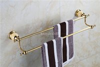 Wholesale Doudle Towel Bar Towel Holder Towel rack Solid Brass Marble Made Chrome Gold Rose Gold Finish Bathroom Accessories