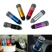 Wholesale Brand New Mini Auto Car Fresh Air Ionic Purifier Oxygen Bar Ozone Ionizer Cleaner PC FG15344