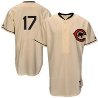 baseball bat sleeve - Cheap NEW Men s Chicago Cubs Kris Bryant Majestic Cream Turn Back the Clock Throwback Authentic Player Jersey