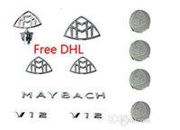 Wholesale New Whole Set MAYBACH Emblems Set of Hub Caps of New MAYBACH S600 S500 S400 DHL Free
