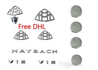 Wholesale Whole Set MAYBACH Emblems Set of Hub Caps of New MAYBACH S600 S500 S400 DHL