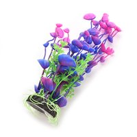 Wholesale New Purple Green Artificial Water Plant for Fish Tank Aquarium Decoration best deal