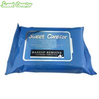 Wholesale Sweet Carefor Makeup Remover Wet Wipes Cleansing Towelettes Pack Alcohol Free Wet Wipes For Skin Care