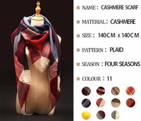 Wholesale Winter Scarf Tartan Plaid Cashmere Scarf Pashmina New Designer Blanket Scarf Luxury Brand Women s Scarves and Wraps