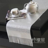 aluminum sheet grades - Counter aluminum sheet metal table table cloth luxury gift tassel simple high grade decorative gift Home Furnishing