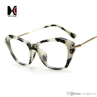 Wholesale Vintage Cat Eye Frame Brand Designer Original Fashion Clear Lens Glasses Stronger Leopard Eyewear Women Eyeglasses oculos