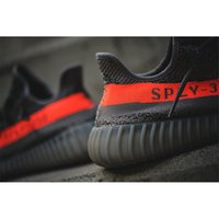 Wholesale New With Box Kanye West GLOW IN DARK SPLY Season Boost Grey Black Running Shoes Real Boost TPU Bottom Size