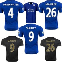Wholesale New Leicester City Jersey VARDY home blue away MAHREZ DRINKWATER OKAZAKI KING thai quality Leicester City soccer Jersey shirt