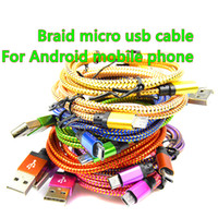 Good quality apple android tablet - 25cm M M M Micro USB Cable Charger Data Sync Nylon USB Cable For Android Smart Phone for tablet PC