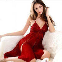 Wholesale Hot Womens Sexy Ladies Dress Lingerie Underwear Robe Babydoll Sleepwear G string