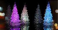 Wholesale Xmas LED Night Light Lamp Crystal Christmas Tree Pattern RGB Color Changing for Kids Children Gift Holiday Lighting Bulbs Lampara CE ROSH