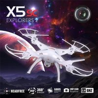 Wholesale SYMA X5SC RC drone Four axis aircraft G Remote control drones with W HD Camera LED lights RC toys