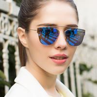 aqua lenses - HOT MIRROR REFLECTIVE REVO AQUA LENS FLAT TOP TEARDROP TINT SUNGLASSES