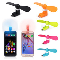Wholesale Mini USB Fan Pin Flexible Portable Super Mute Cooler Cooling For Android Samsung S6 S7 edge Phone Iphone S Plus usb With Package