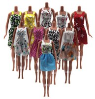 Wholesale Hot Sell One Set Mix Sorts Newest Beautiful Handmade Party Clothes Fashion Dress For Barbie Doll Best Gift Toys WY