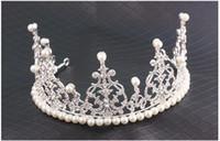 Wholesale Luxury Wedding Crowns Shiny Crystals Real Sample Bridal Wedding Tiaras Hair Accessories head pieces Tiara Crystals Bead dro ship