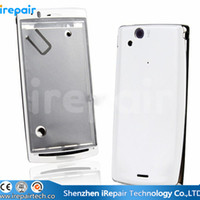 arc housing - iRepair Genuine Original New Complete Full Housing Cover Case with Buttons for Sony Ericsson Xperia Arc S LT18i Black White Silver