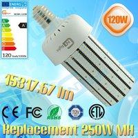 120 vatios LED Flood Light mogul base Estacionamiento Lote de zapatos Retrofit Lámpara E40 E39 6000K Daylight 100-277V UL cUL listed
