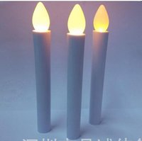 battery church candles - 50cs Flameless Battery Operated tealight Wax Dipped LED Taper Candle lamp Church birthday wedding Xmas decor CM WHITE