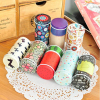 Wholesale 8 Storage Tin Box Colors Mini Tea Candy Melon Seeds Organizer Cute Cylindricaliron sheet Storage Box Girls Favor